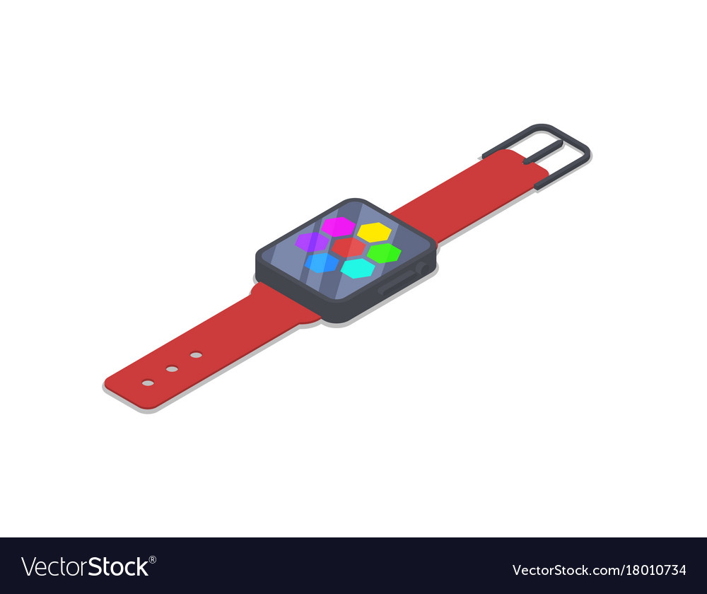 Smart watch device isometric 3d icon