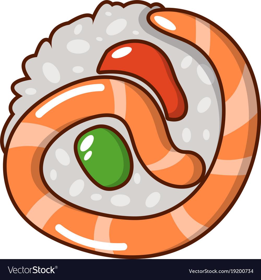 Sushi japan icon cartoon style