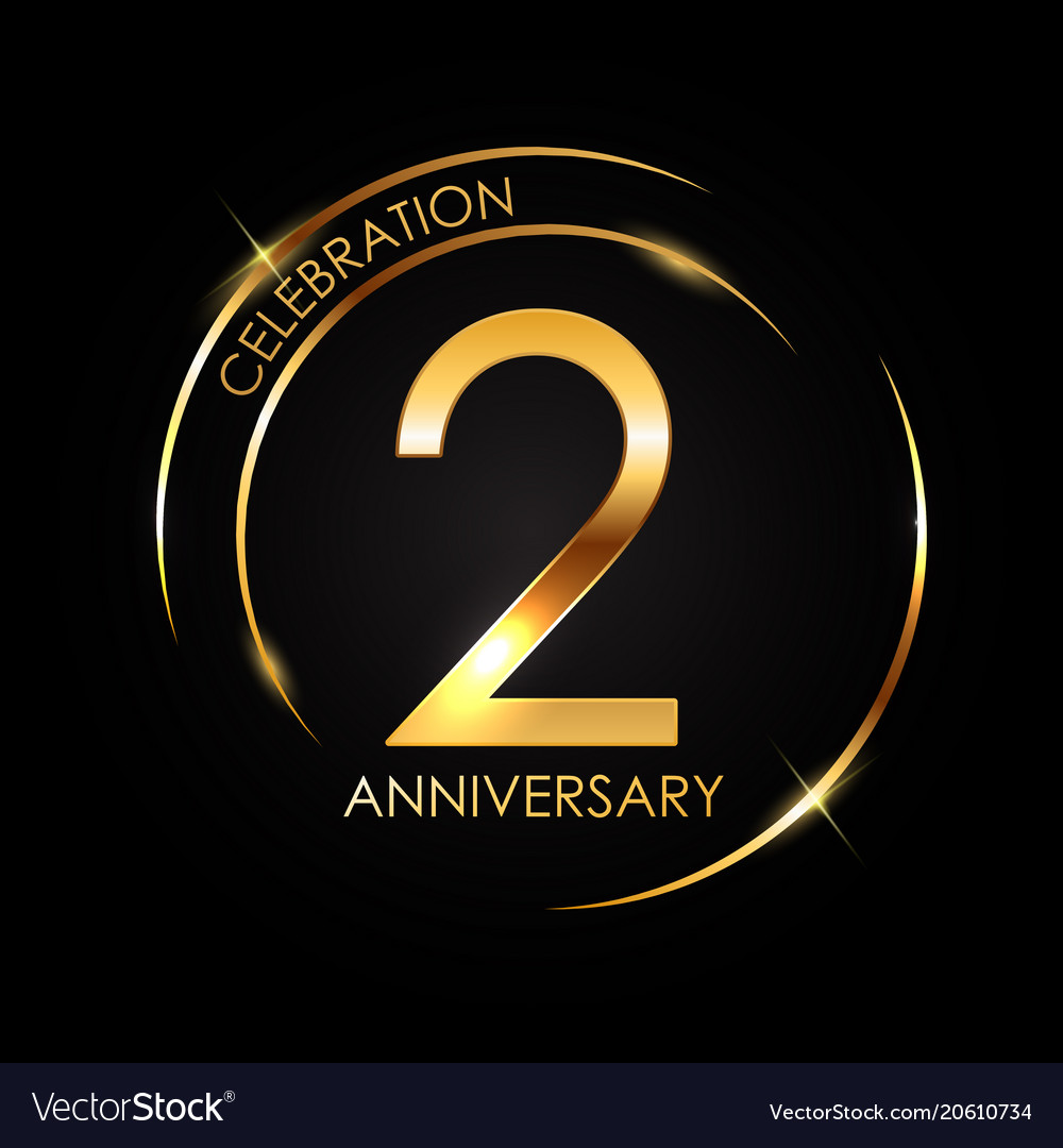 template 2 years anniversary royalty free vector image