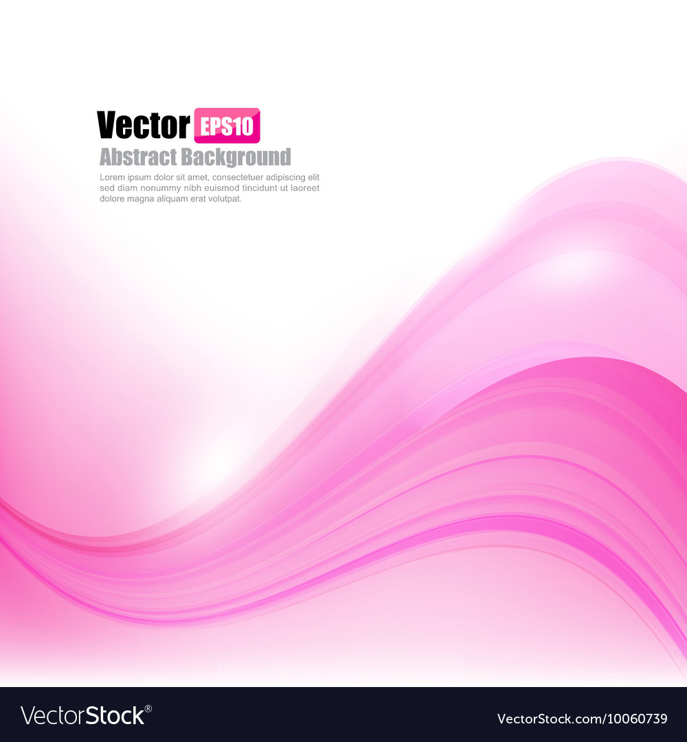 Abstract background Ligth pink curve and wave