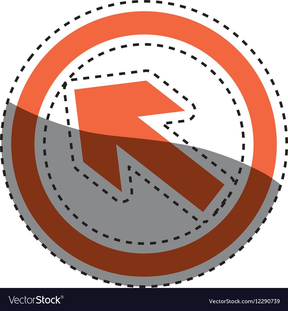 Arrow in round emblem