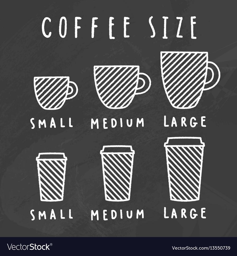 Choose coffee size chalkboard style