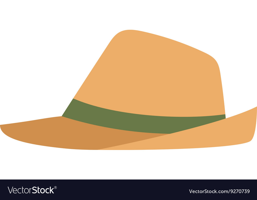 9810b37c4c6f8 Cowboy sheriff leather hat Royalty Free Vector Image