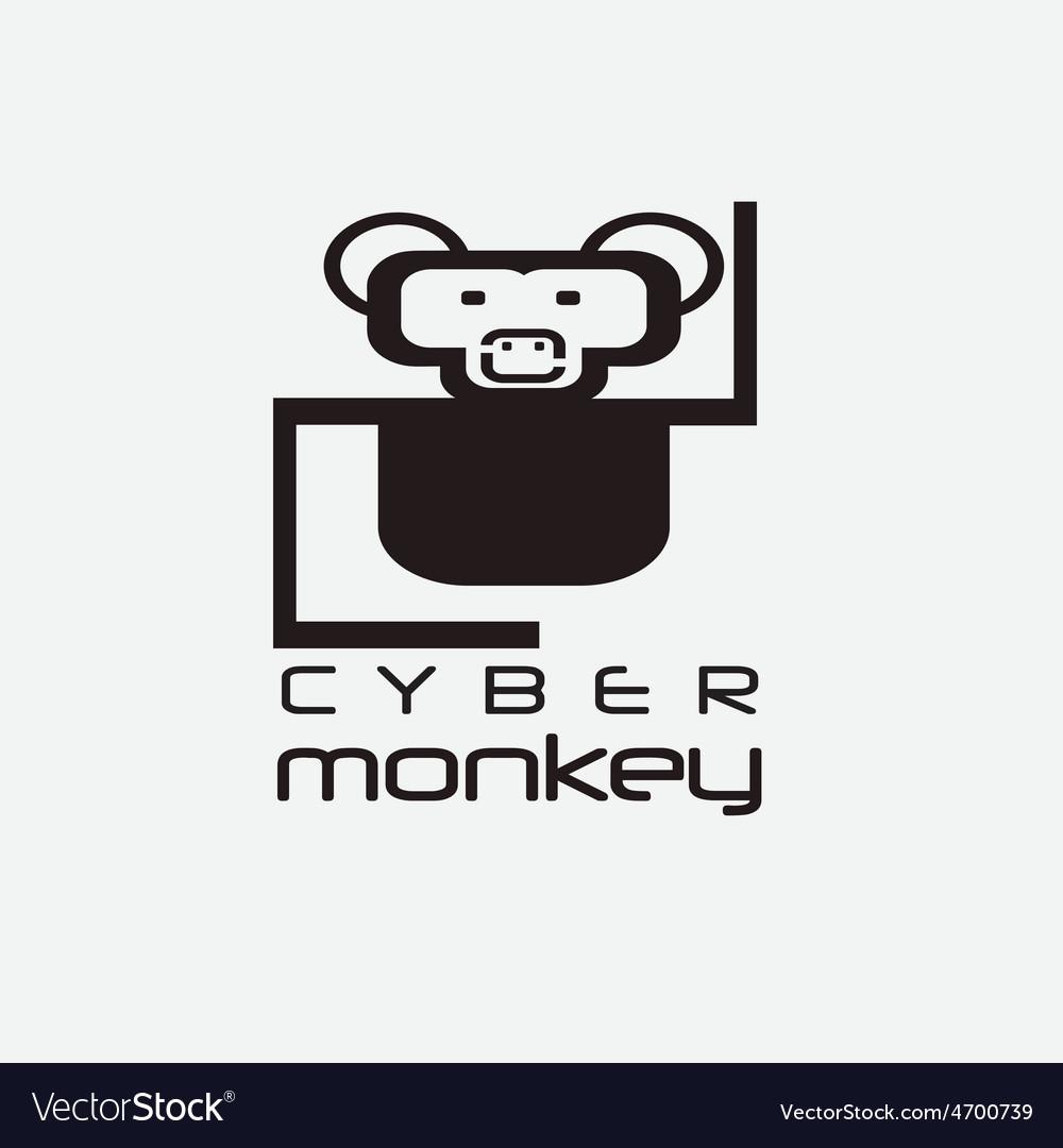 Cyber monkey computer shop design template