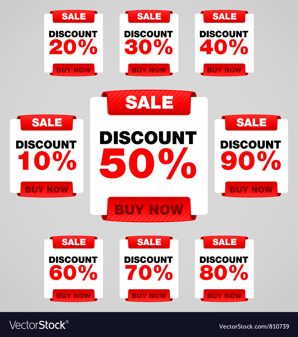 Discount or sale tag vector