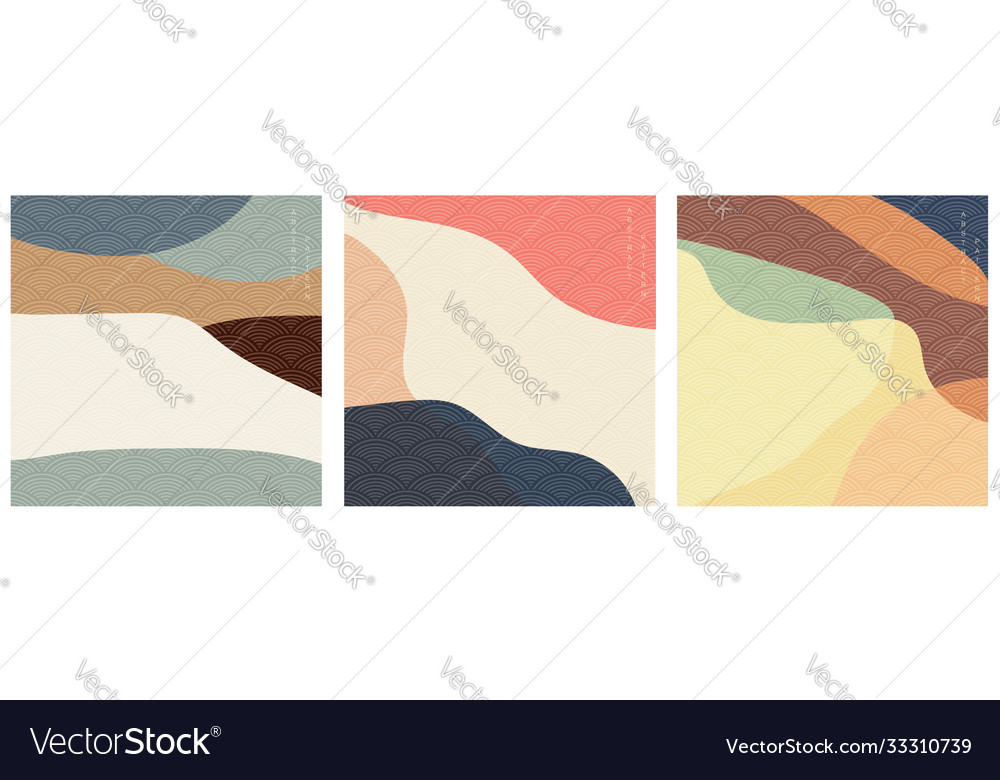 Japanese background with wave pattern