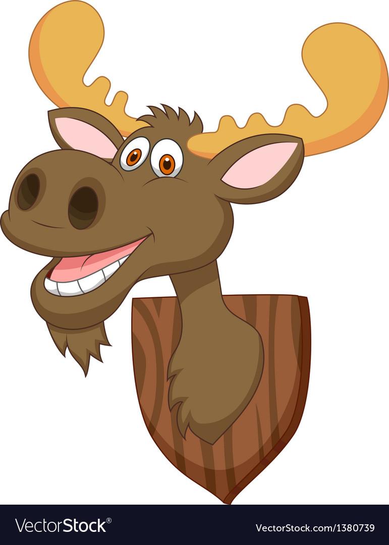 Moose head cartoon vector image