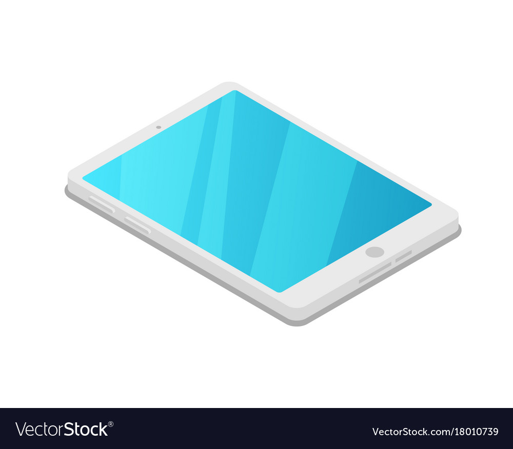 Tablet pc device isometric 3d icon