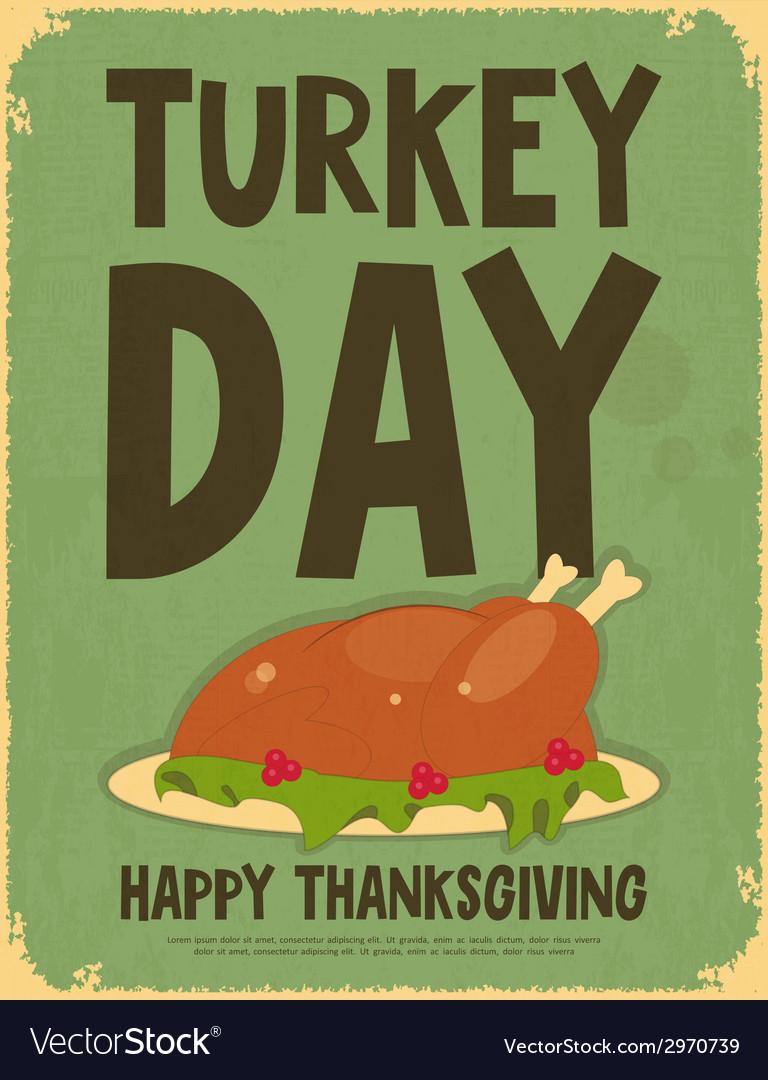 Thanksgiving Day Retro Poster
