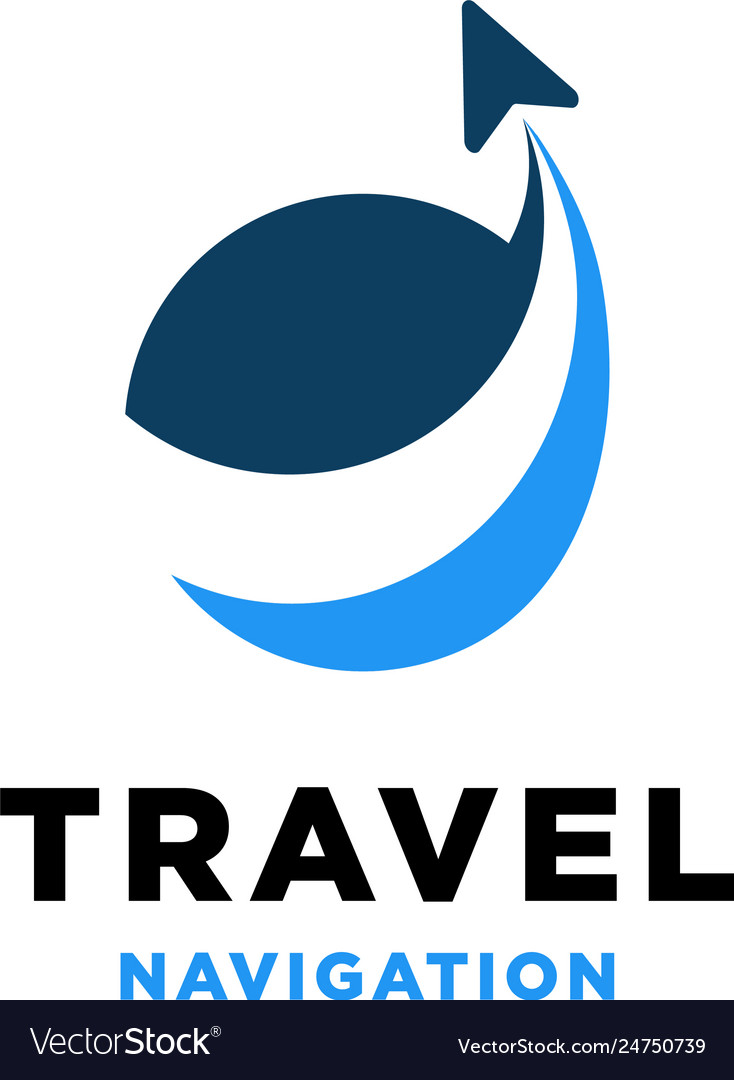 Travel navigation logo design inspiration