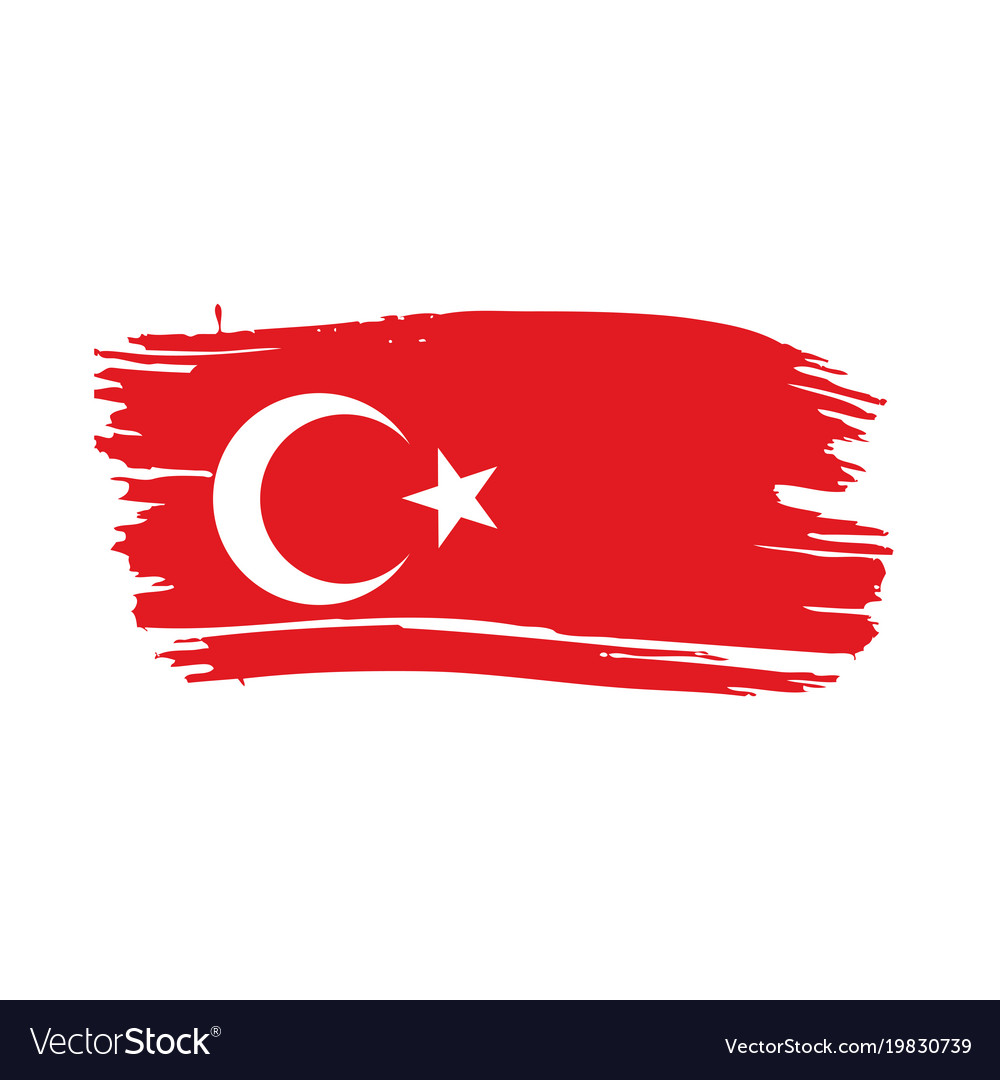turkey flag royalty free vector image vectorstock