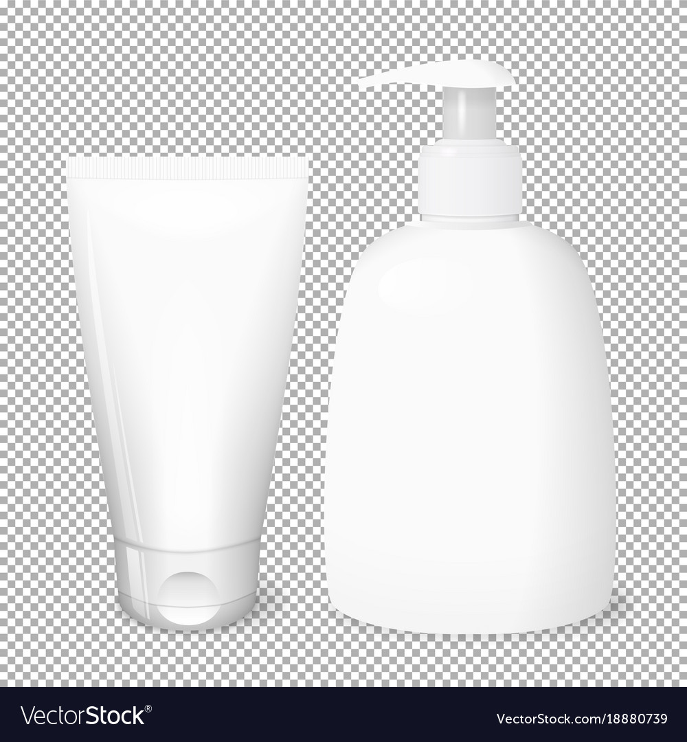 White bottle and tube templates