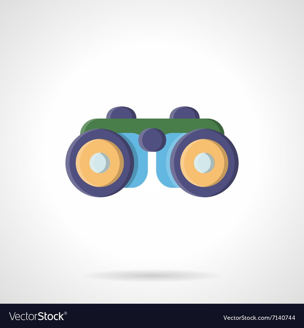 Binoculars flat color style icon