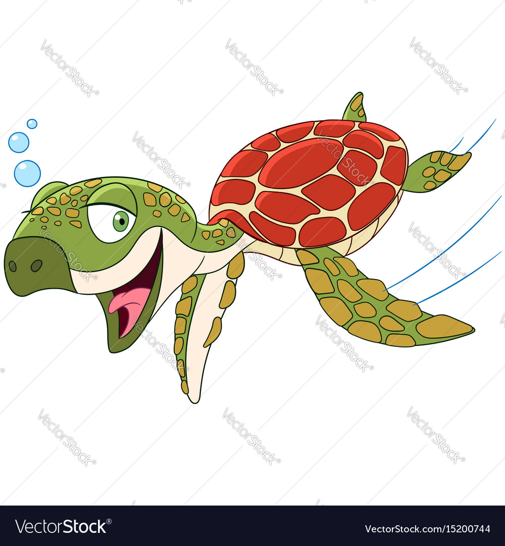 Cartoon turtle animal