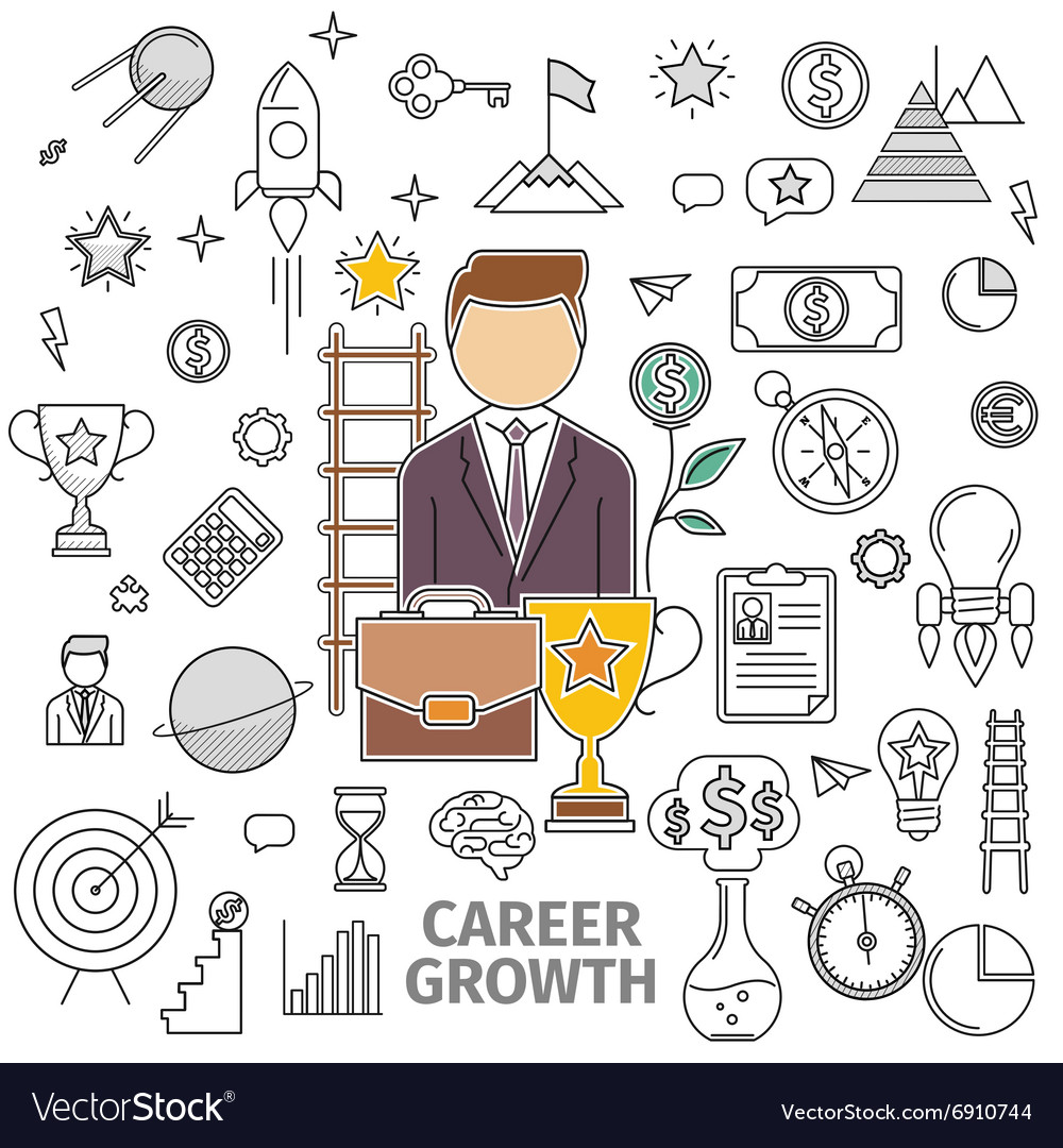 Concept Career Growth vector image