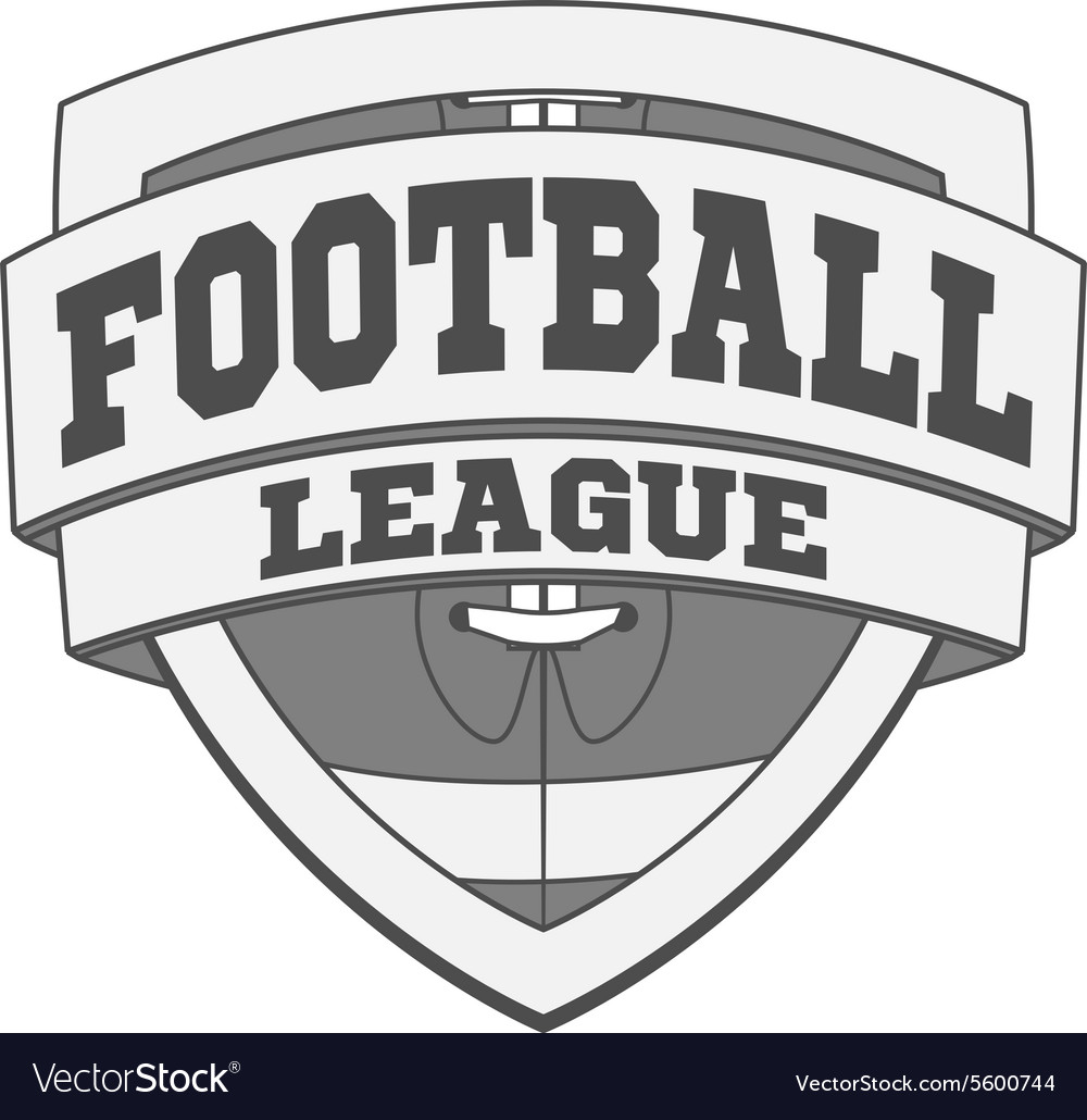 Design of white Football Label vector image