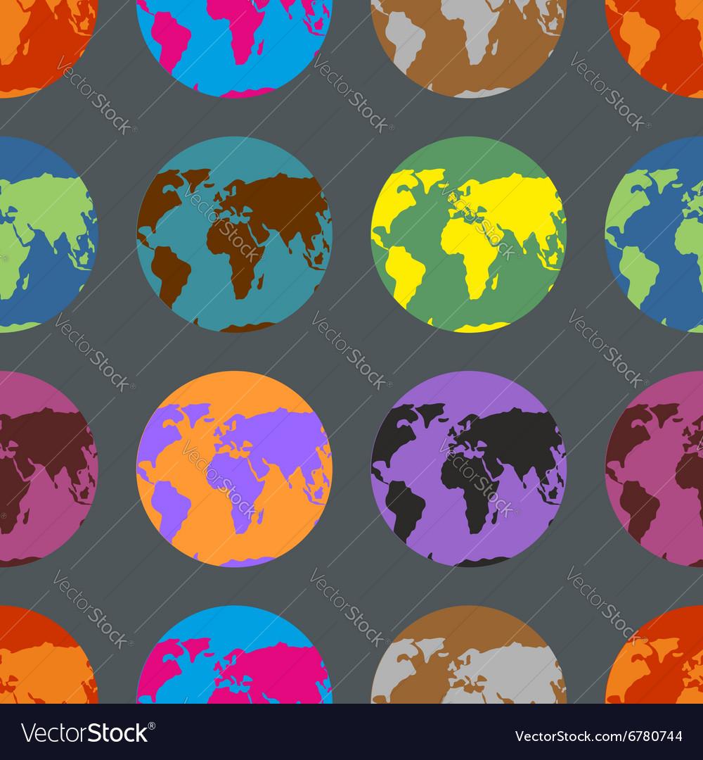 Earth coloured crazy pattern Multi-Colored