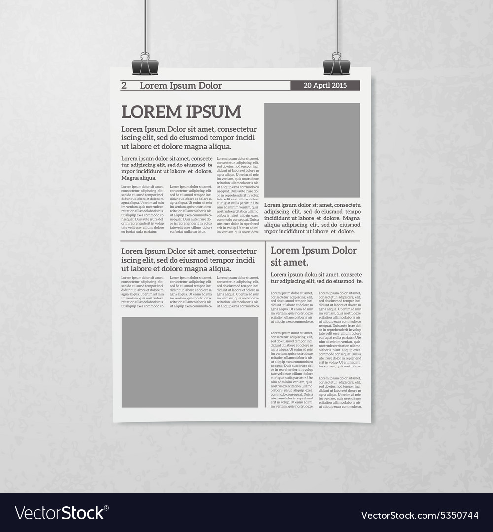 Hanging Newspaper Concept