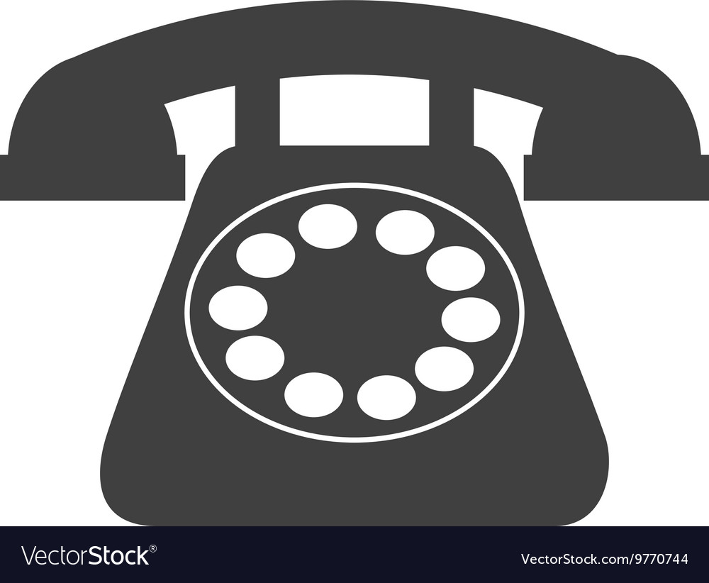 Old telephone isolated icon design