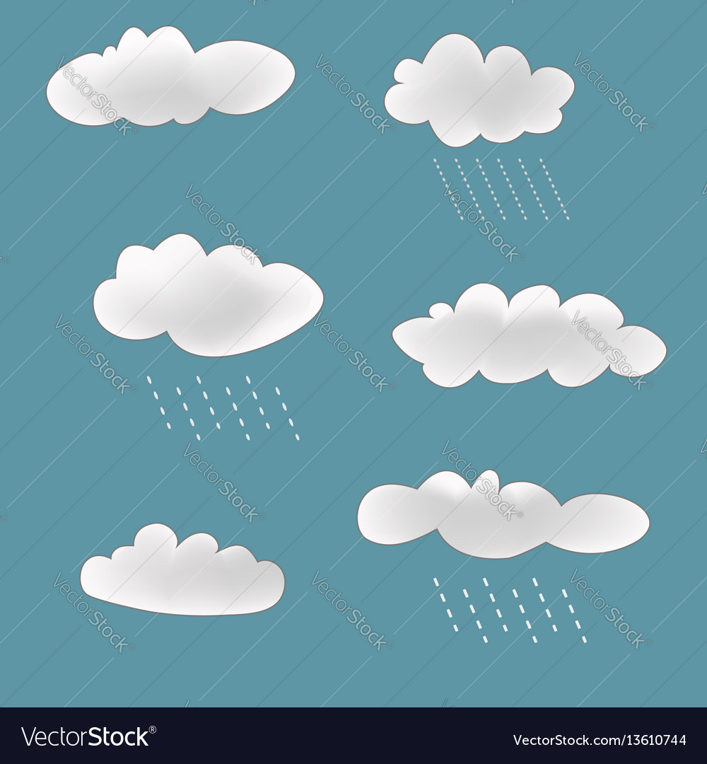 Rainy clouds set