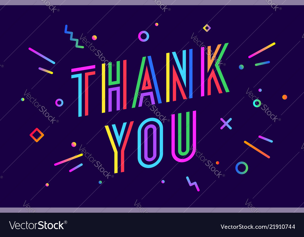 Thank you greeting card banner poster for