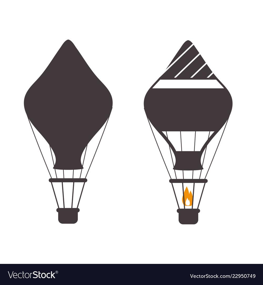 Air balloons outline emblems