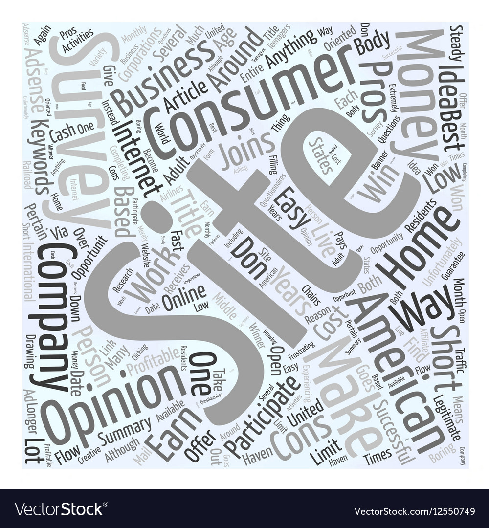 American Consumer Opinion Word Cloud Concept