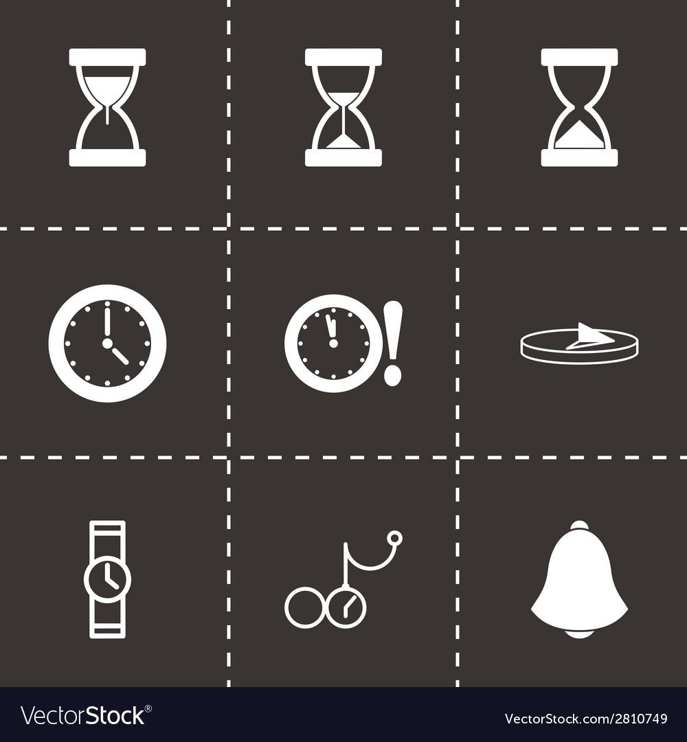 Black time icons set