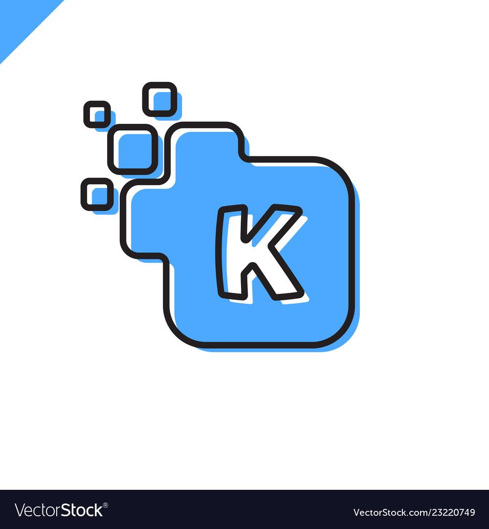 Business corporate square letter k font logo
