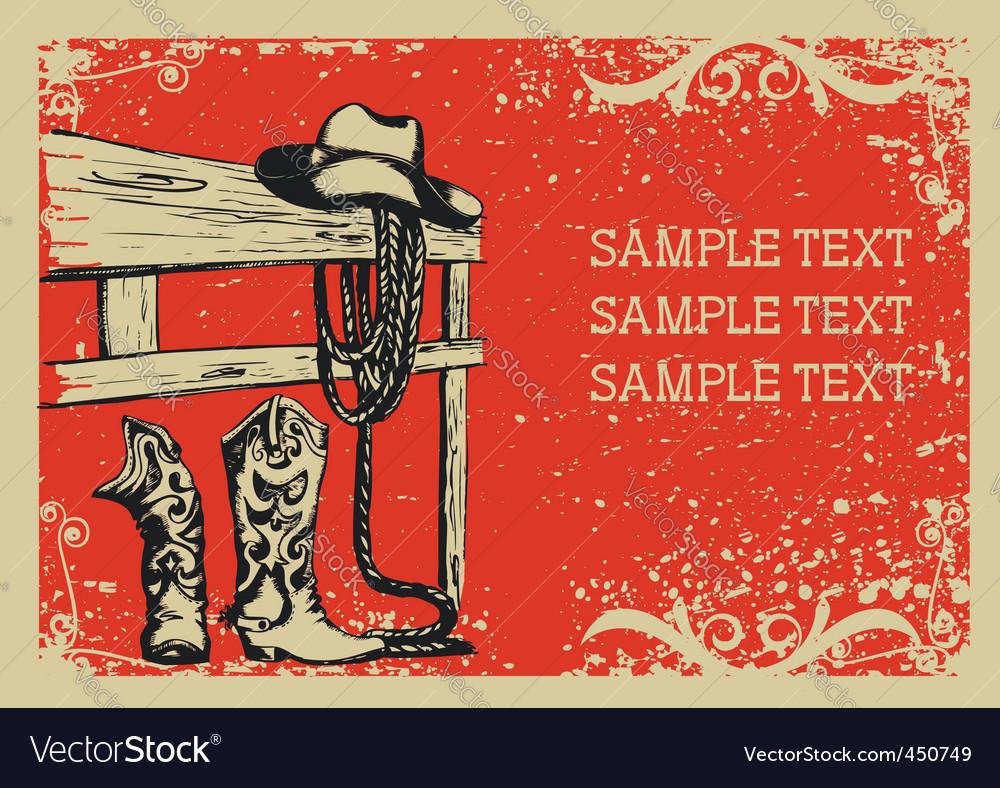 Cowboys life vector image