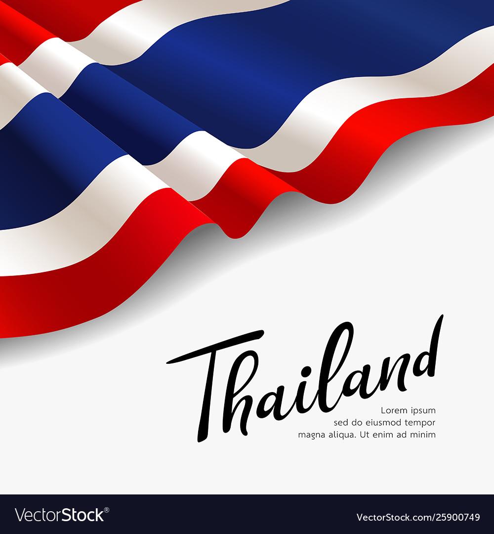 Flag thailand fabric design
