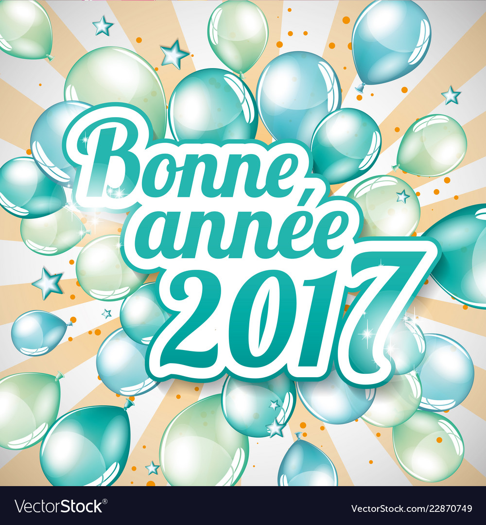 french happy new year 2017 vector image