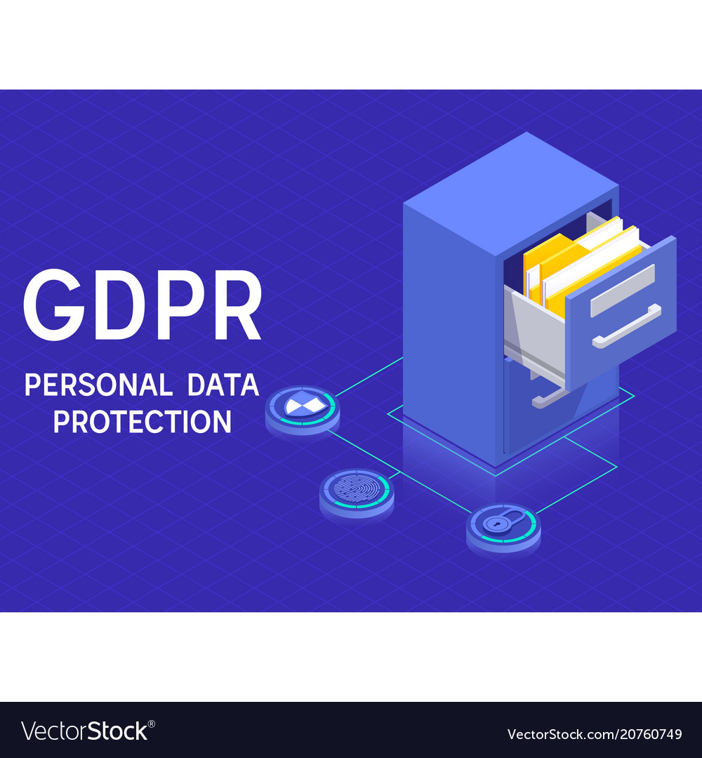 Gdprpersonal data protection and privacy concept