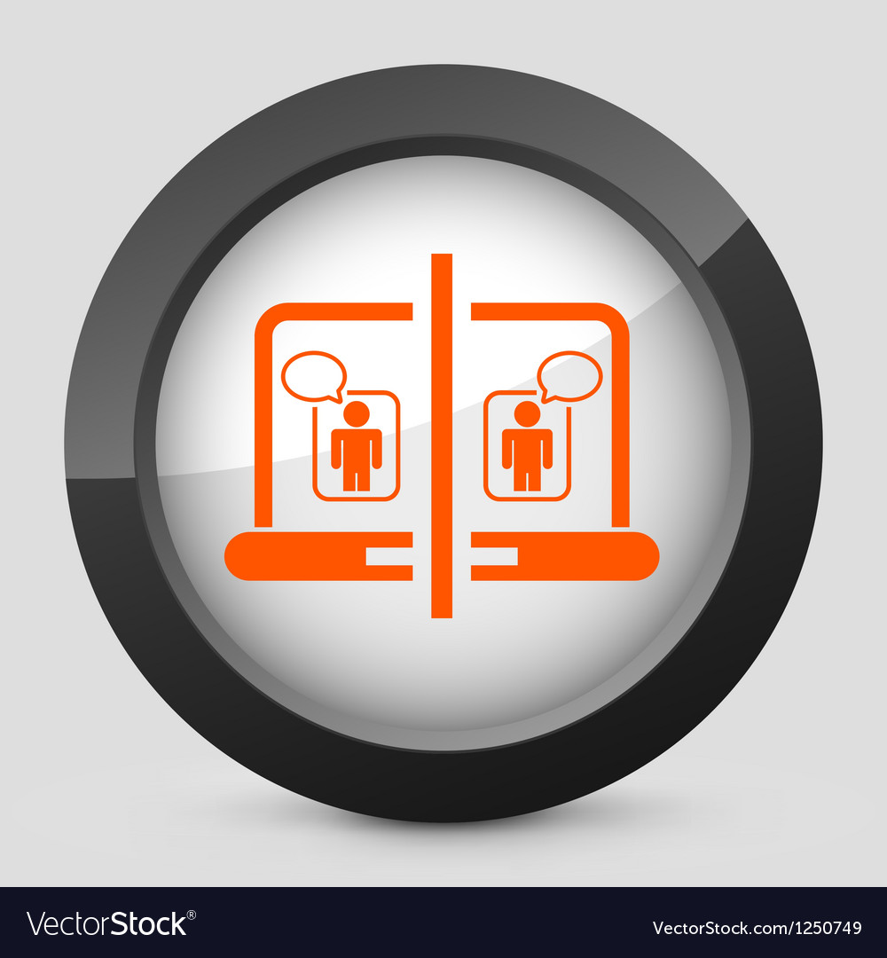 Orange and gray elegant glossy icon