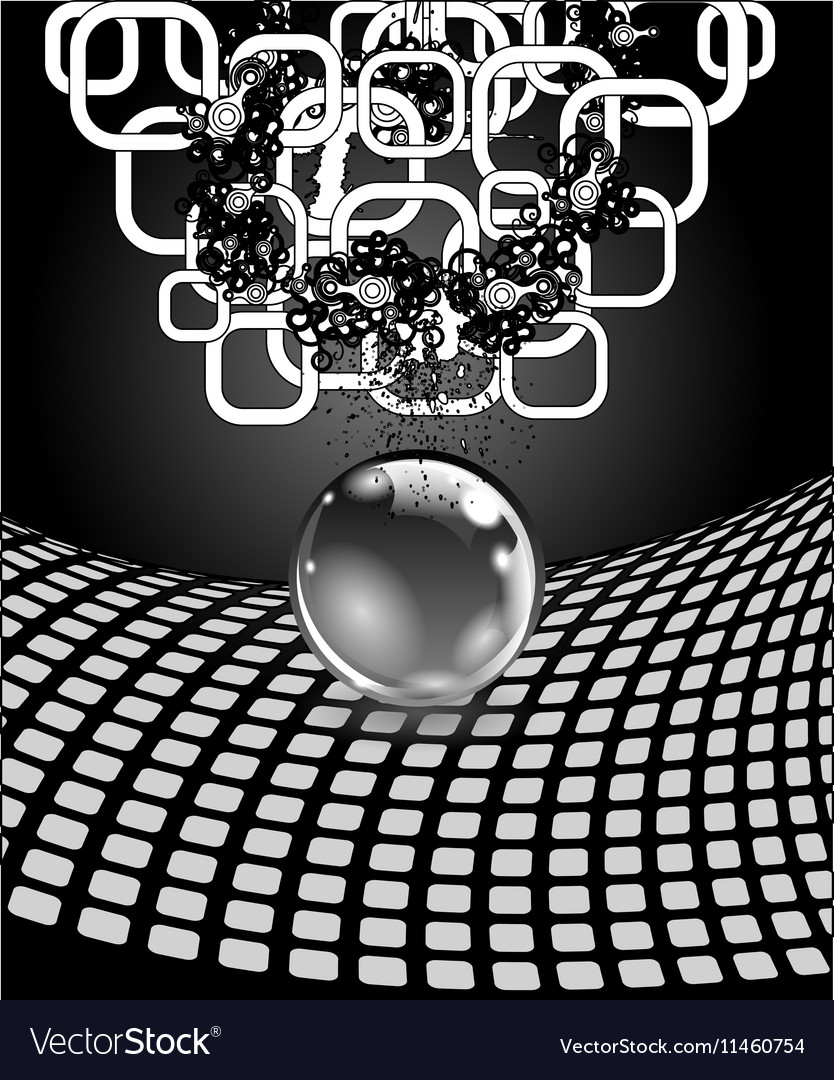 Abstract sphere with surface Concept business