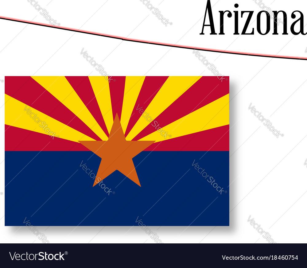 Arizona State Map Free.Arizona State Map And Flag Royalty Free Vector Image