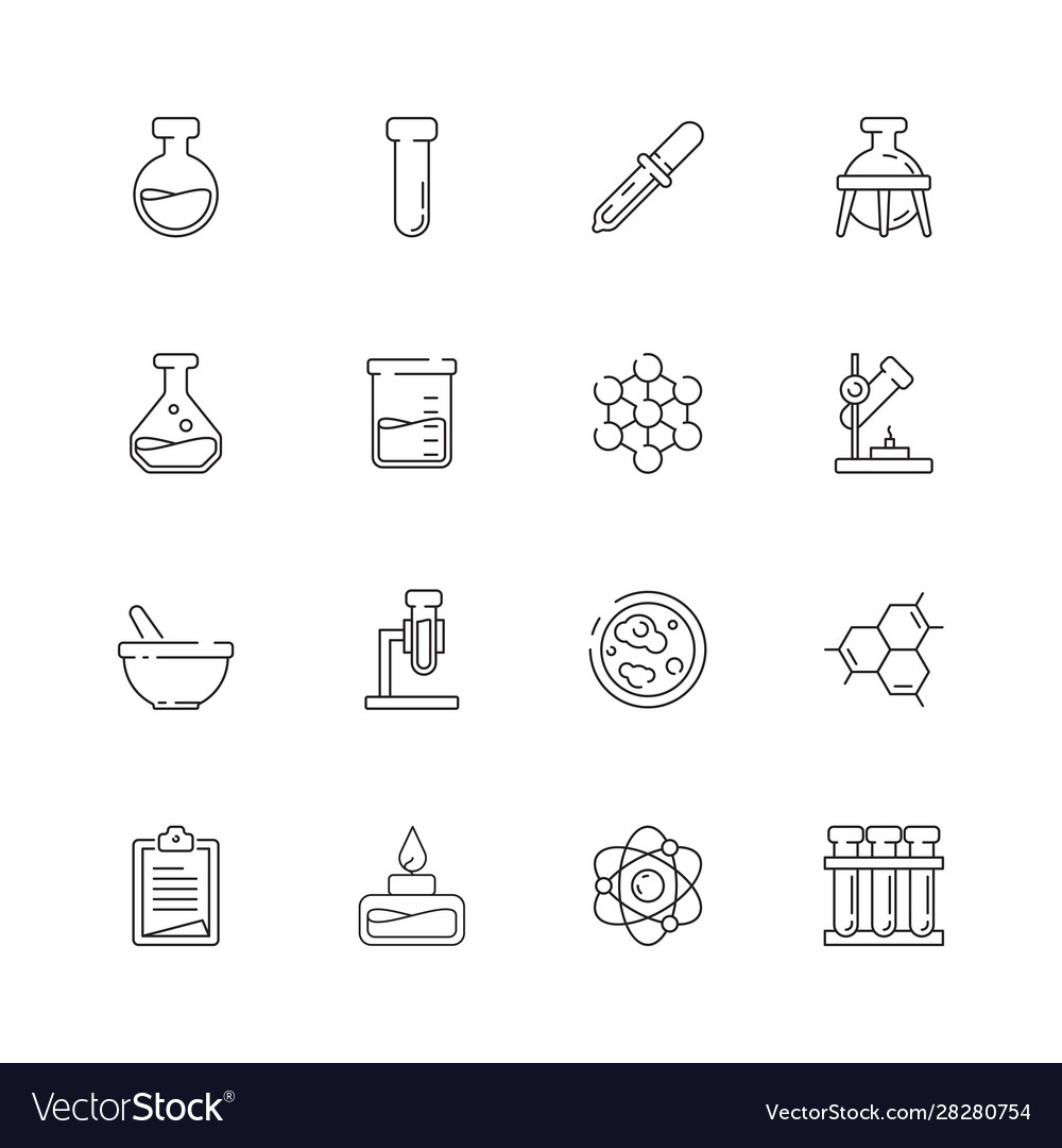 Chemistry icon science molecular biology