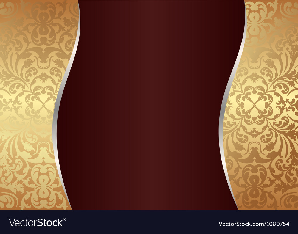Claret and gold background vector