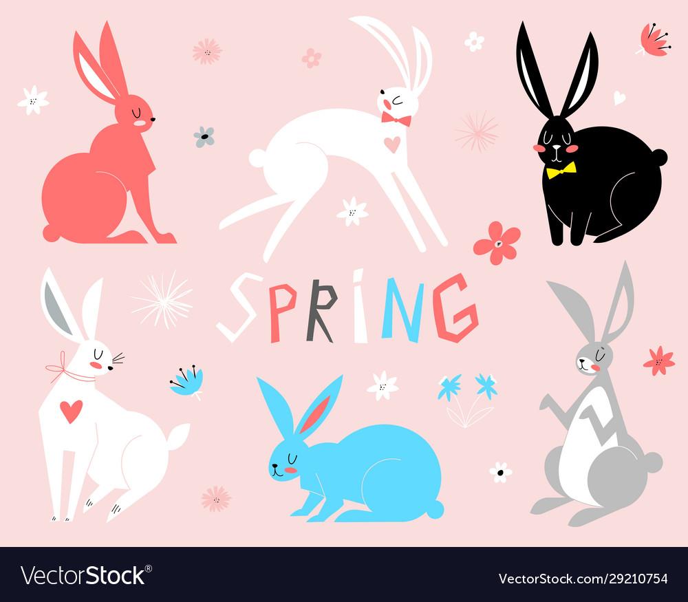 Eastern bunny rabbits in