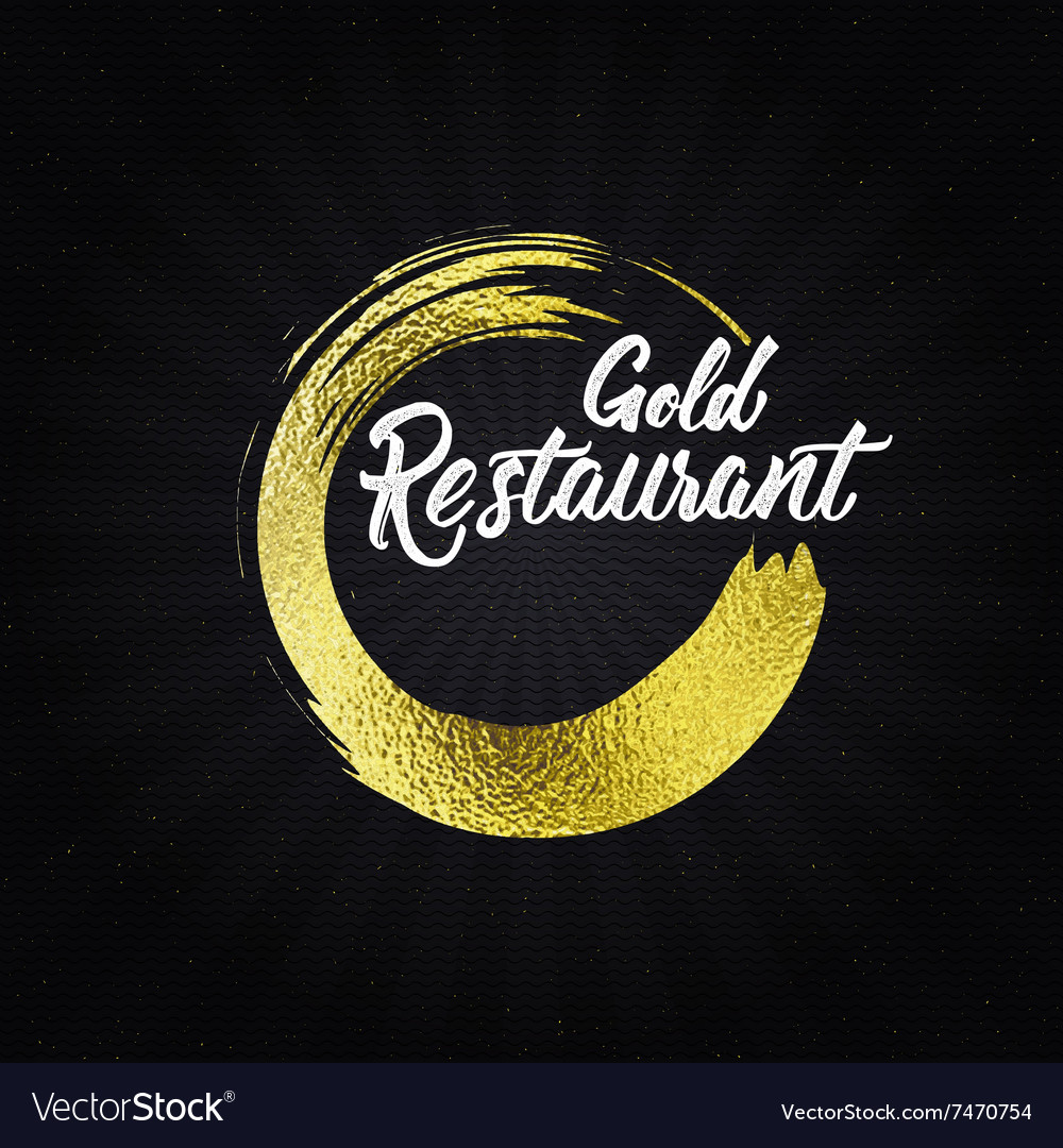 Gold restaurant insignia and labels for any use