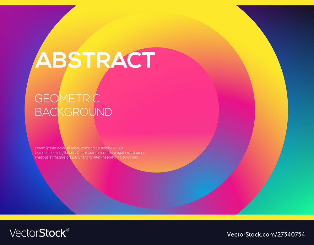 Modern futuristic gradient layout cover