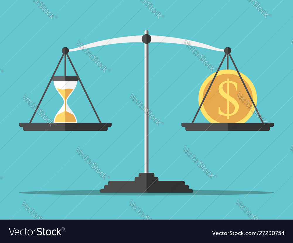 Sand glass dollar balance