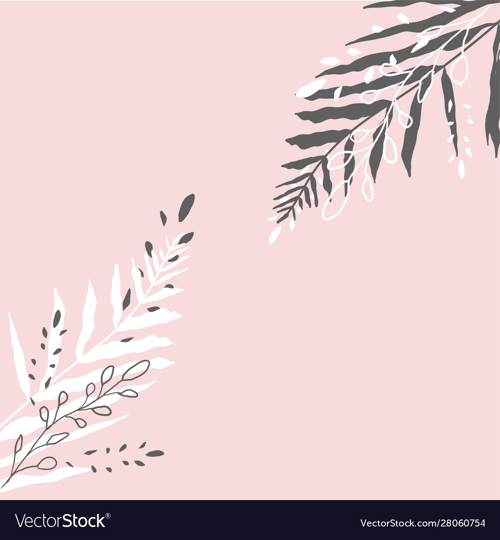 Tropical worn floral pastel pink blush pattern