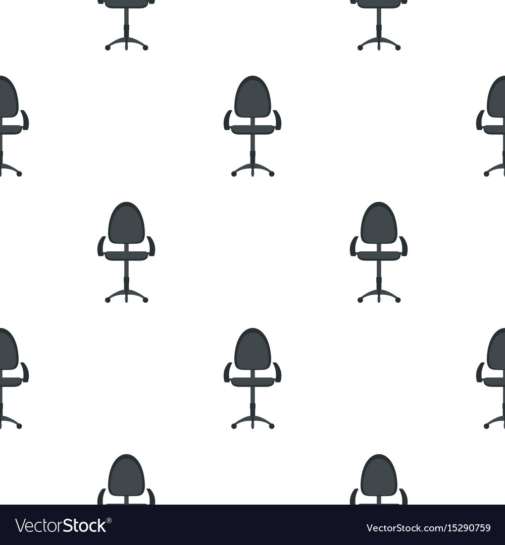 Black modern office chair pattern flat