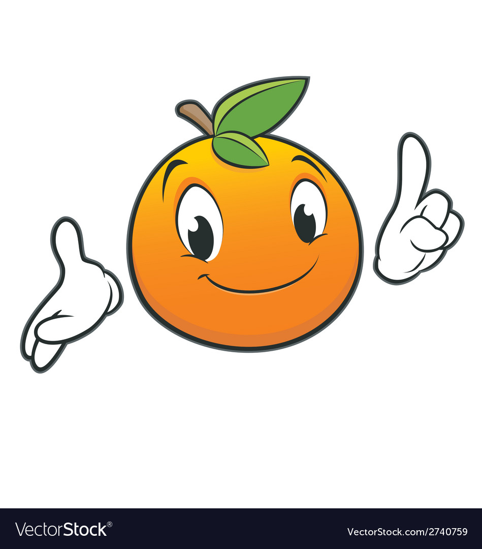 Cartoon Orange vector image