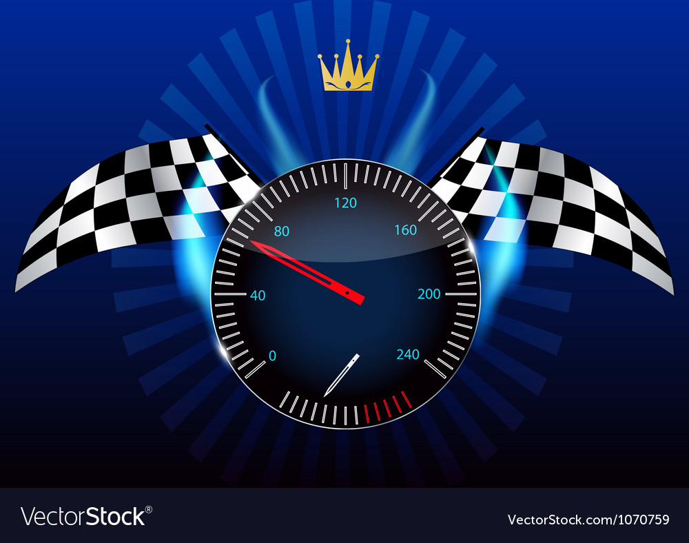 Checkered flag speedometer