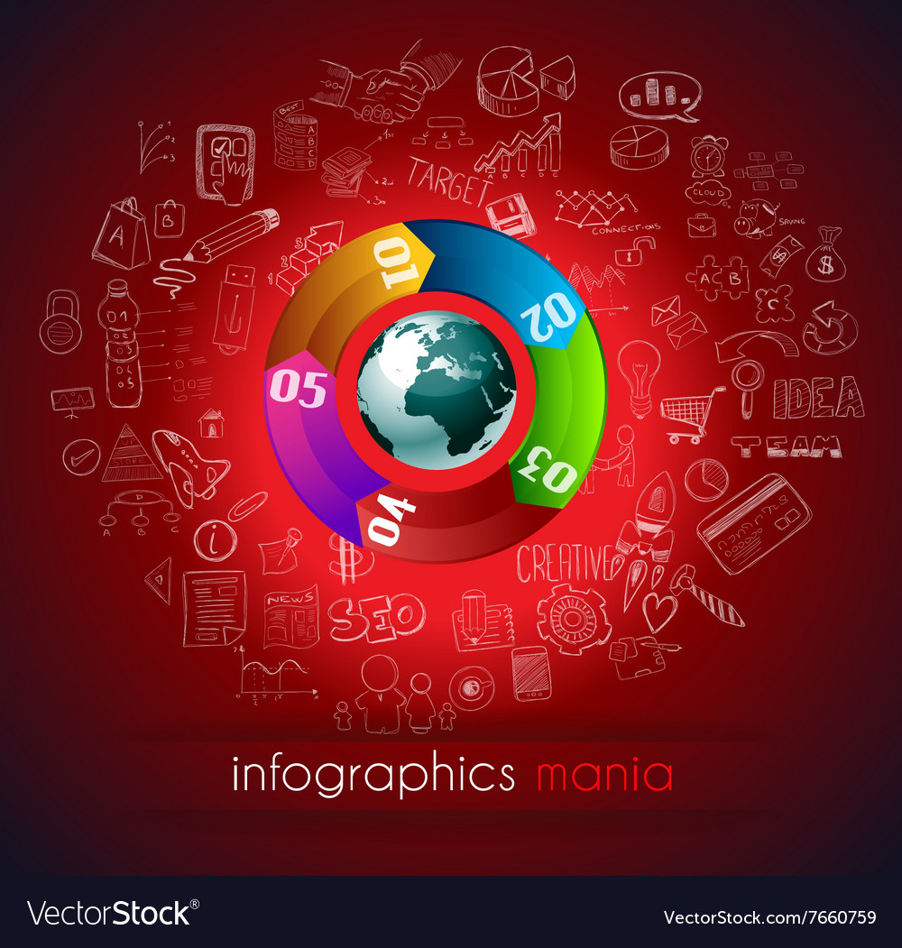 Clean Infographic Layout Template for data and vector image