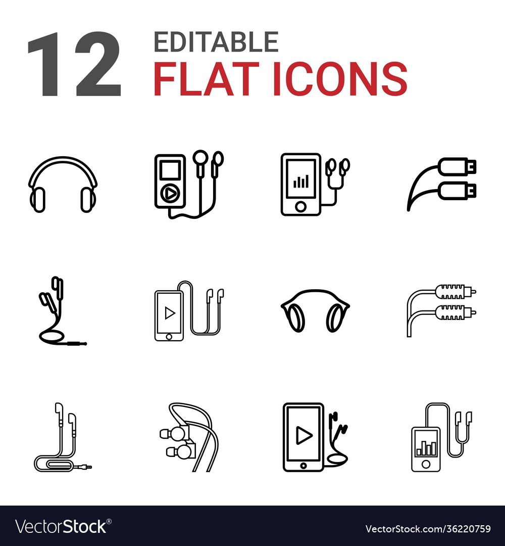 Earphones icons