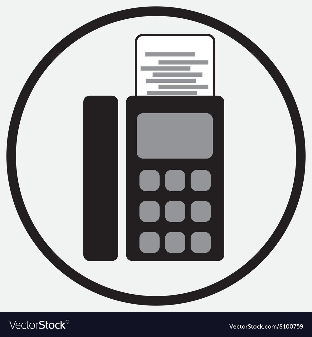 Fax device icon monochrome black white