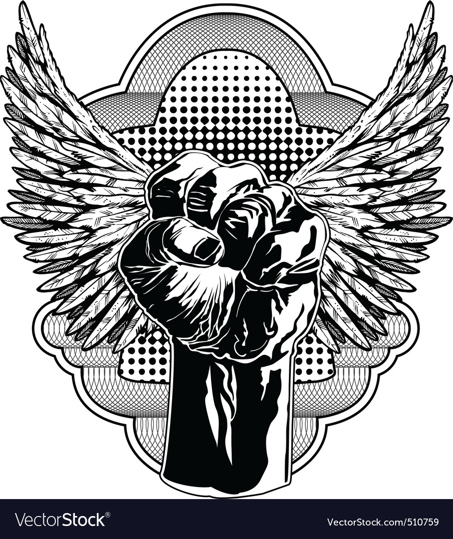 Fist wings vector image